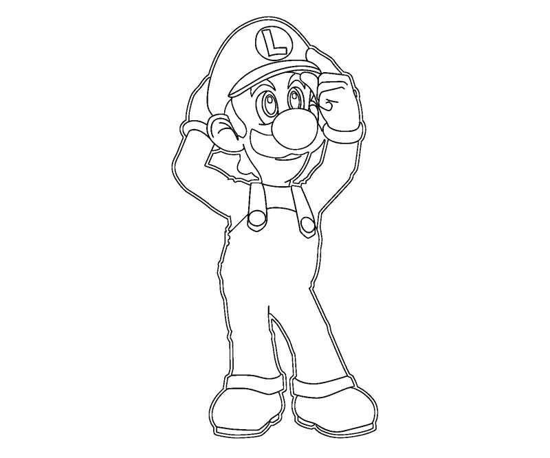mario mansion coloring pages - photo#21