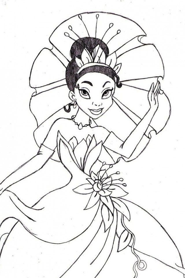 Disney Princess Tiana Coloring Pages Coloring Home