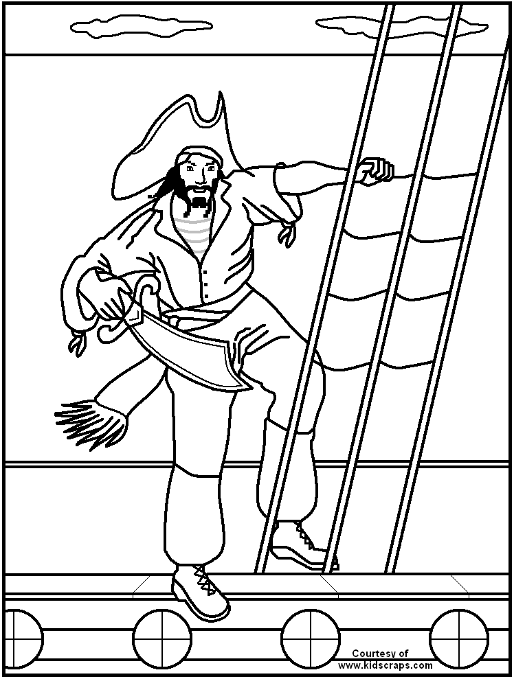 printable pirate coloring pages - pirate coloring sheets for kids coloring home