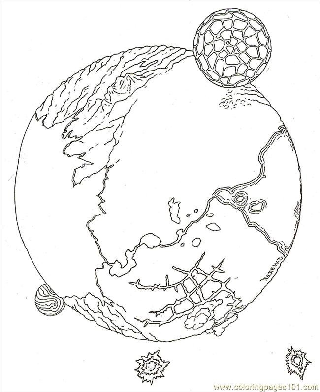 coloring pages planet teep reversed technology astronomy