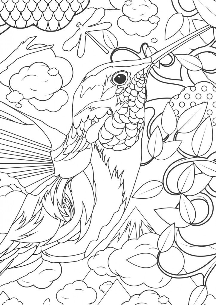difficult bird coloring pages - photo #22