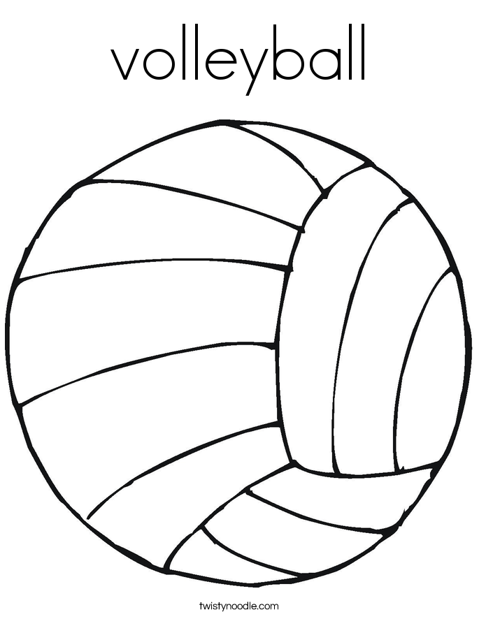 A Picture Of A Volleyball Coloring Home