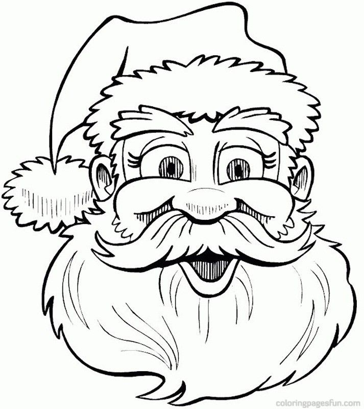 Santa Claus Face Coloring Pages - Coloring Home