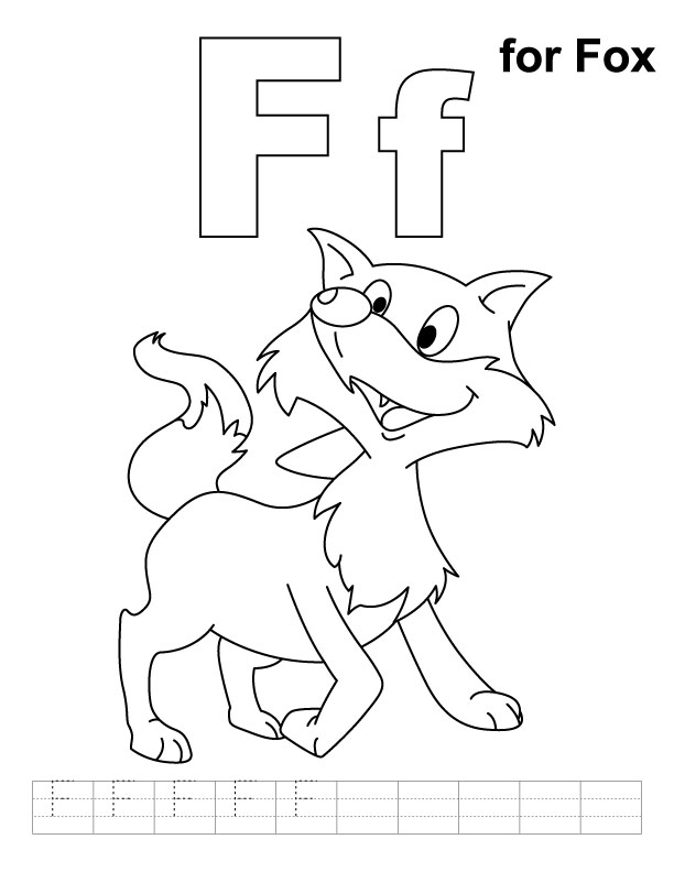 f coloring pages for preschool - photo #19
