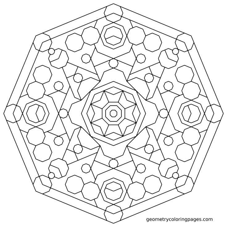 Abstract Shapes Coloring Pages : Geometry coloring page patte mandala