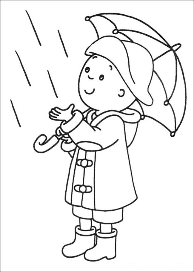 Caillou Coloring Pages Online - Picture 25 – Free Printable
