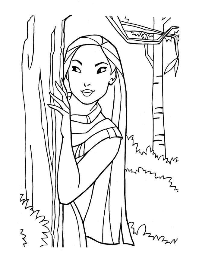 Disney Princess Coloring Pages Pocahontas 8240 Disney
