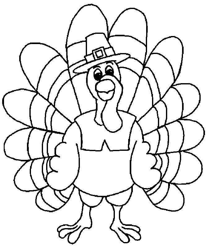 turky coloring pages 4 kids - photo#36