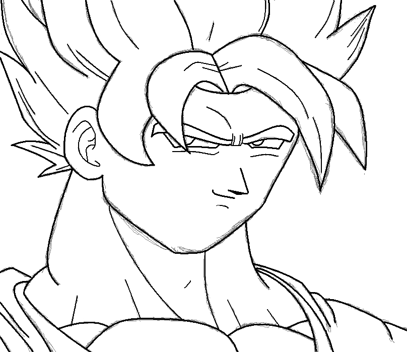 Dbz Goku Ssj Drawing How to Draw Goku Ssj in ms
