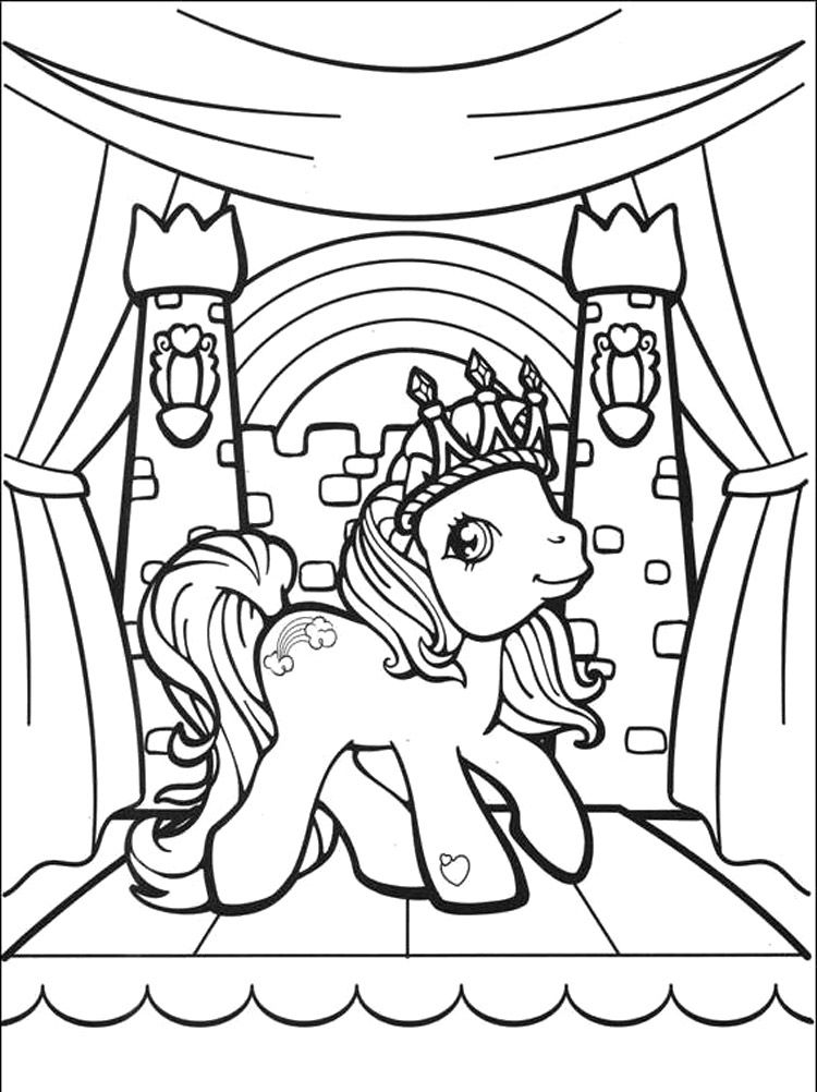 Rainbow Dash Smile Little Pony Coloring Pages - My Little Pony