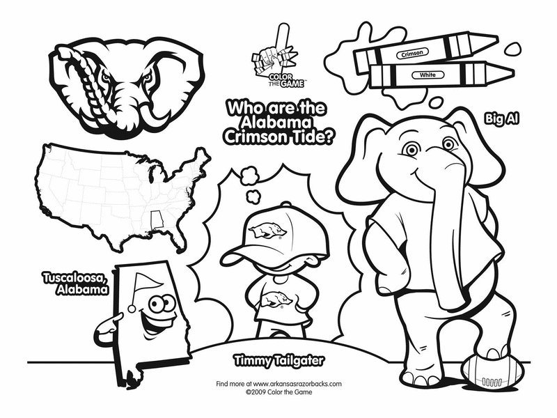 Free Coloring Pages College Football Coloring Page