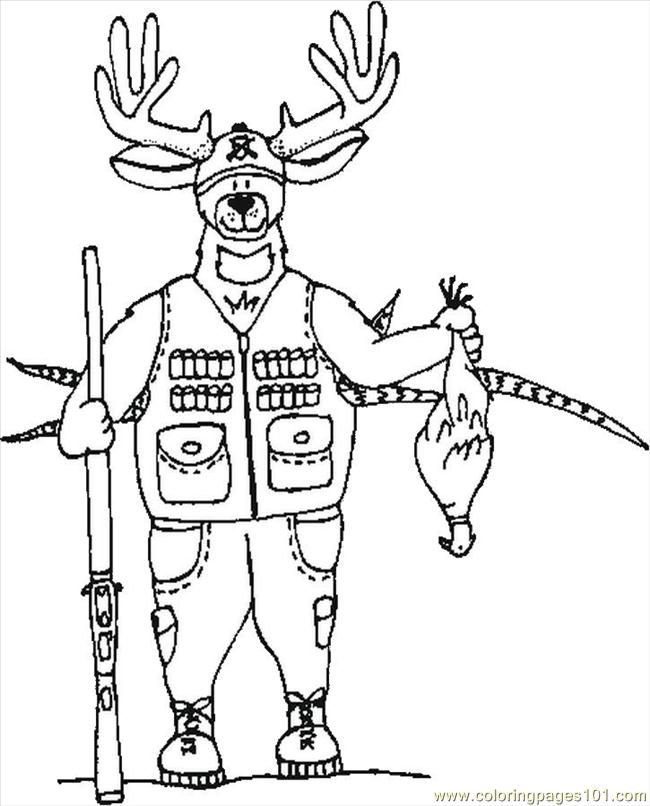 Deer Hunting Drawings Printable Deer Coloring Pages