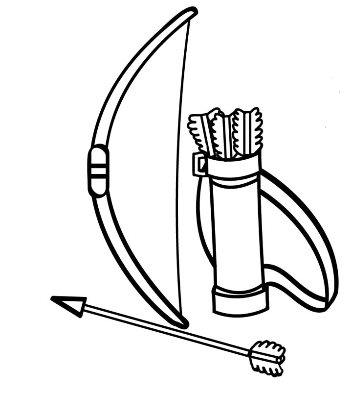 Bows Coloring Pages AZ Coloring