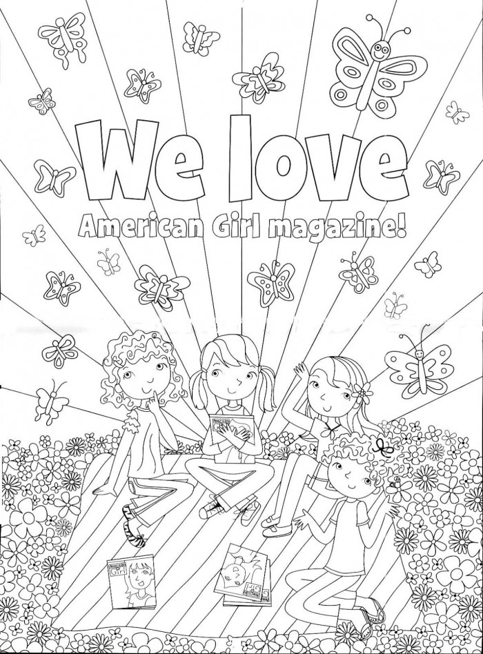 American girl printable coloring pages az coloring pages for American girl doll coloring page