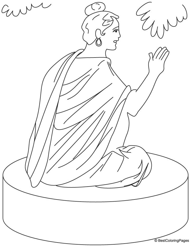 Buddha coloring pages coloring home for Buddha coloring pages