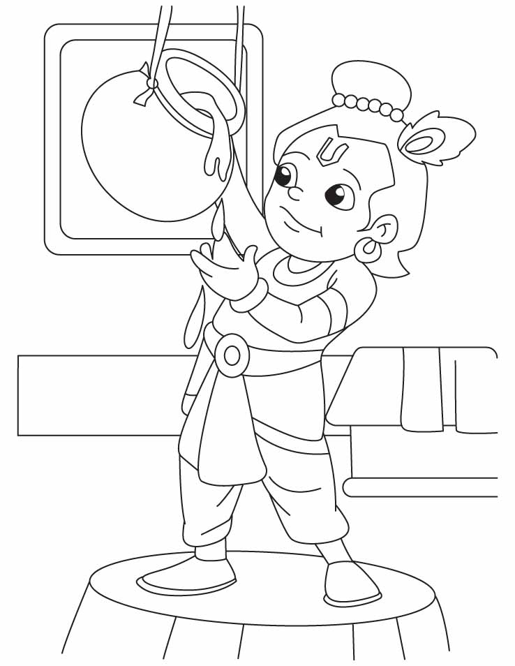 Krishna The Innocent Butter Thief Coloring Pages ...