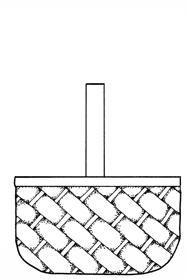 Basket Coloring Page Basket Coloring Pages