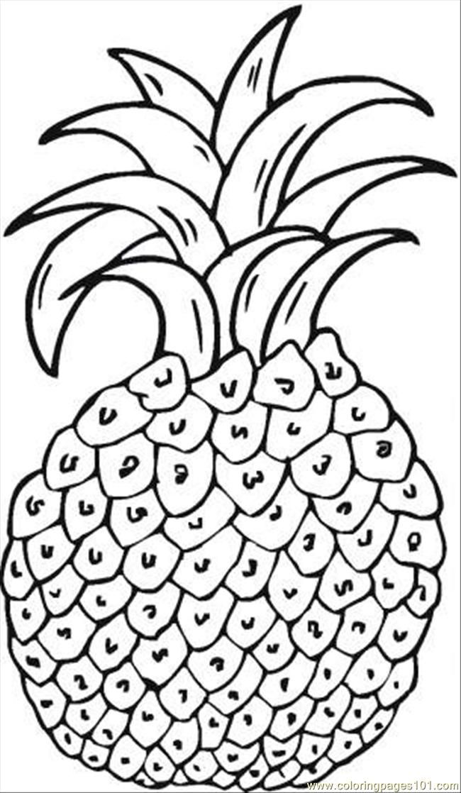 pineapple coloring page coloring pages coloring home