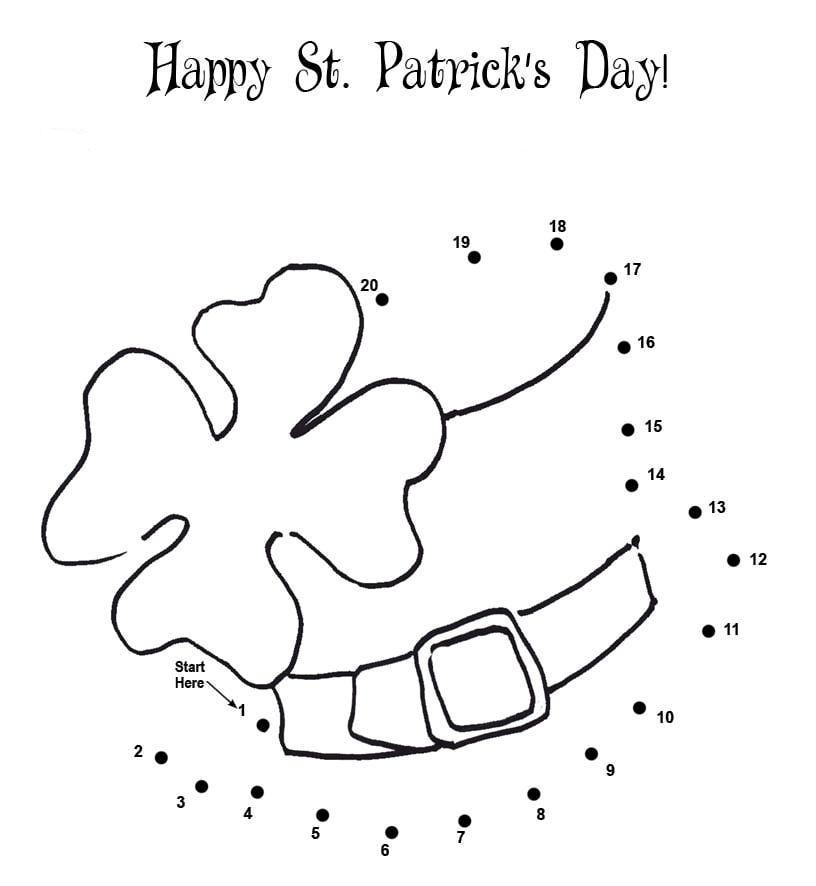 12 St. Patrick's Day Printable Coloring Pages for Adults & Kids ...   886x816