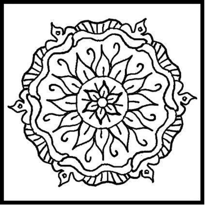 Mandalas To Colour  Coloring Home