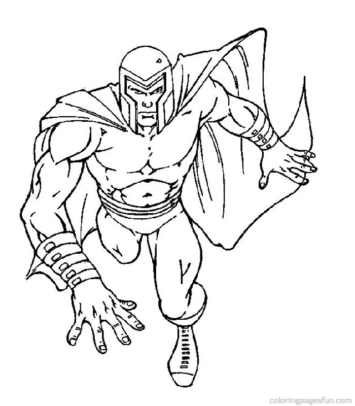 x men coloring book pages - photo #24