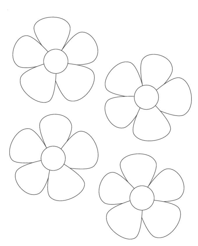 Flower Outline Printable - AZ Coloring Pages