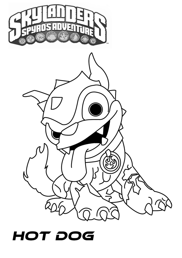 skylander food fight coloring pages - photo#19