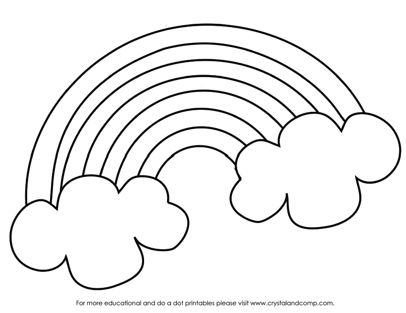 Rainbow coloring pages for preschool az coloring pages for Coloring page rainbow