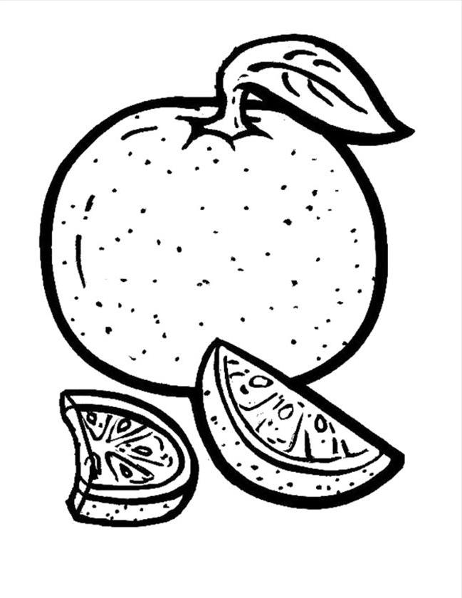 Orange Fruits Coloring Pages