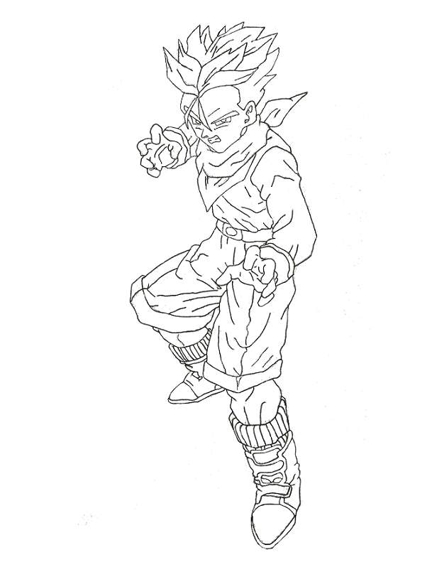 Dragon Ball Gt Drawings Coloring Home