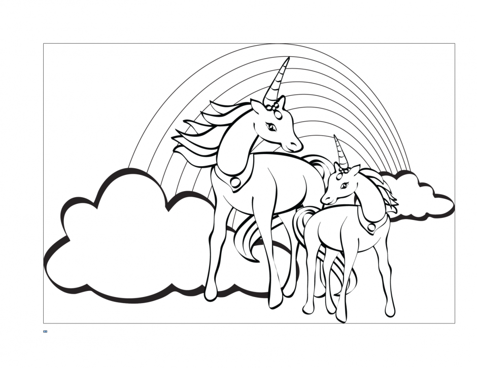 Vector Of A Cartoon Unicorn Coloring Page Outline By Ron 216753