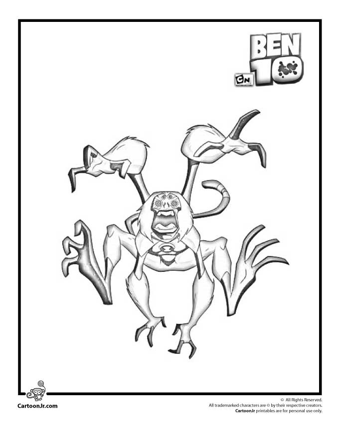 Cartoon Monkeys Coloring Pages