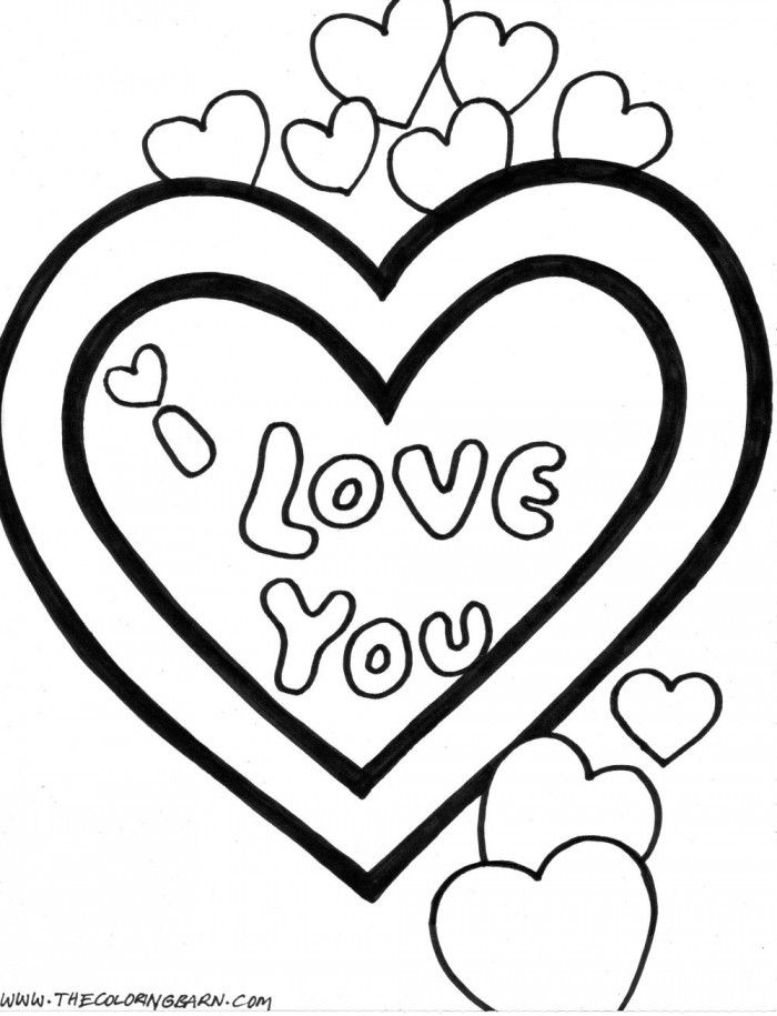Coloring Pages That Say I Love You Coloring Home