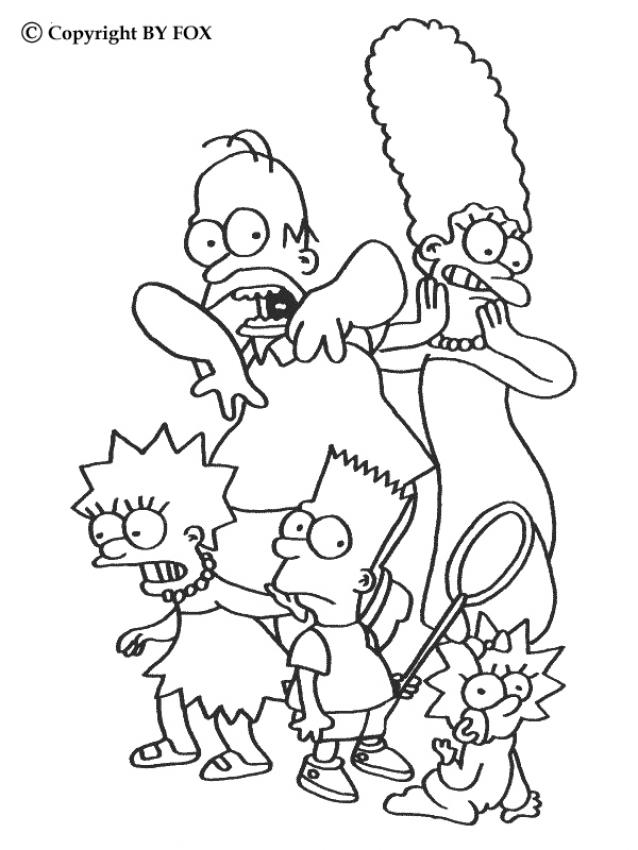 THE SIMPSON FAMILY Coloring Pages - Scary Simpsons Family - Coloring ...