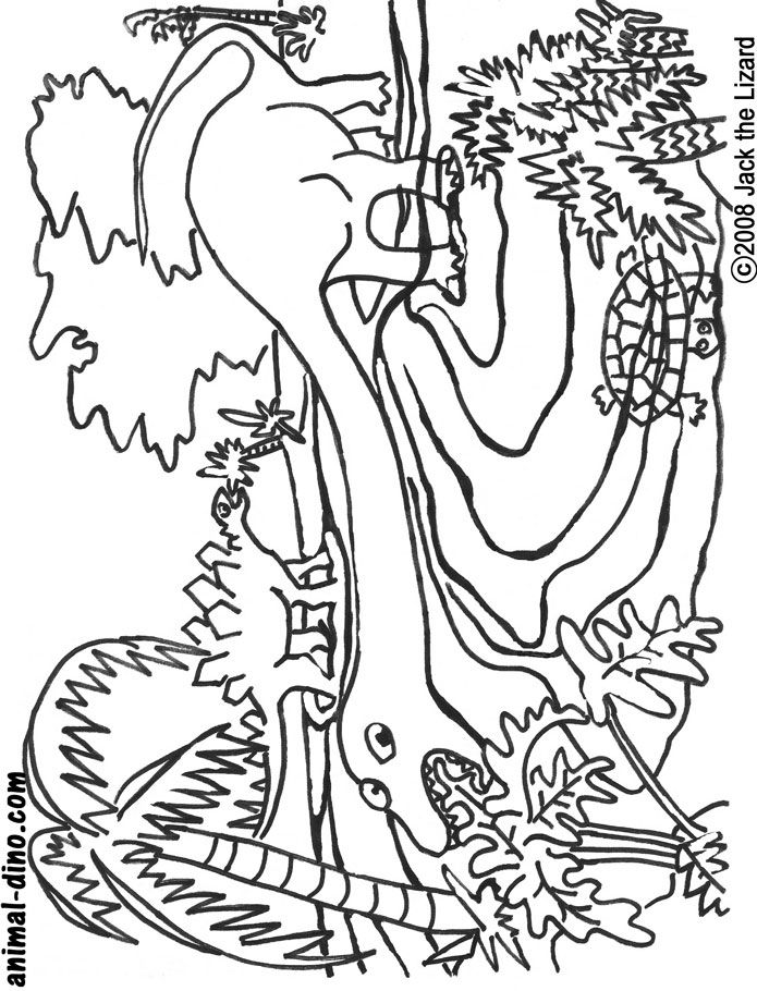 Coloring Pages Of Prehistoric Animals : Pictures of prehistoric animals coloring home