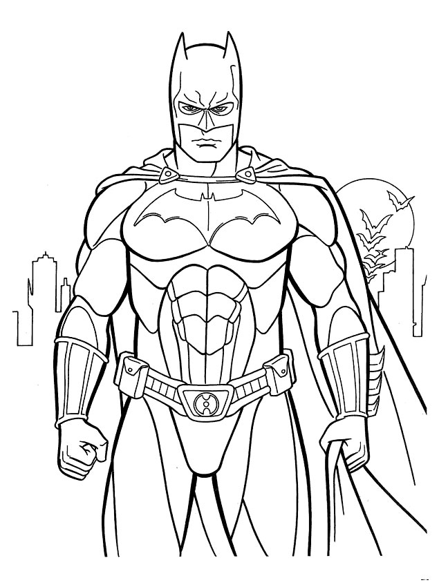 Coloring Pages For Under : Kids under batman coloring pages