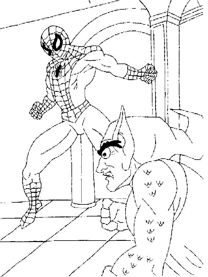 coloring pages green goblin - photo#21