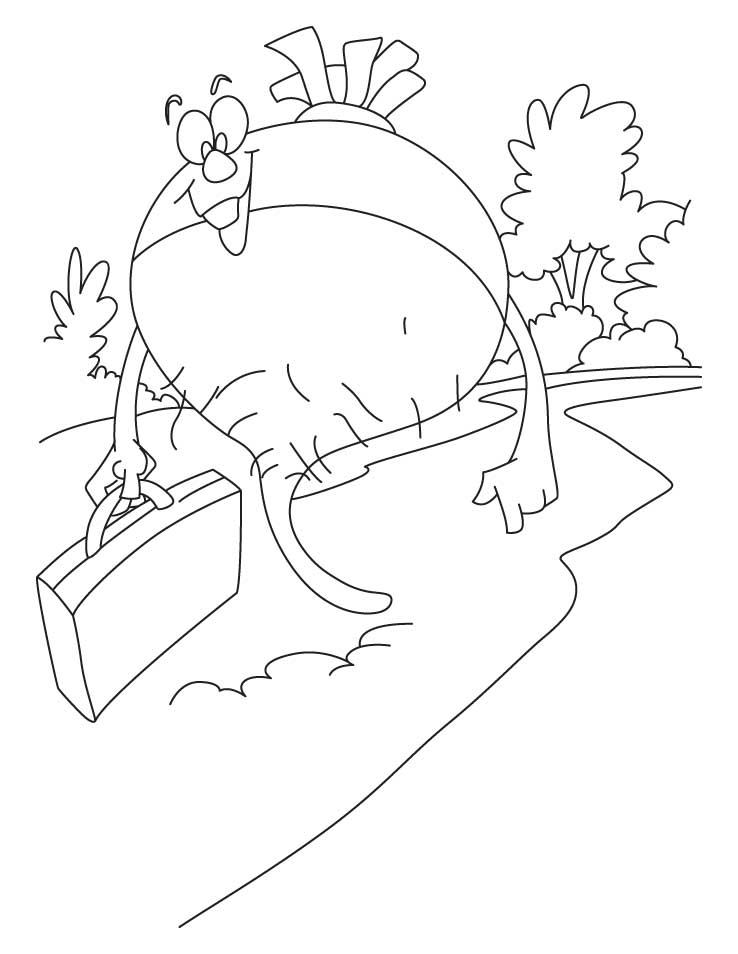 Turnip pics coloring home for Turnip coloring page