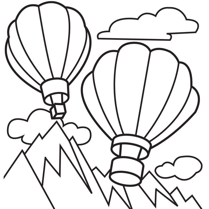 - Hot Air Balloon Coloring Sheet - Coloring Home