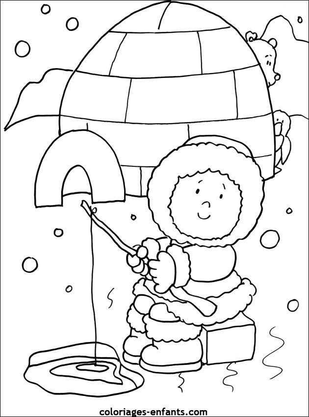 Eskimo pictures for kids az coloring pages for Eskimo coloring page