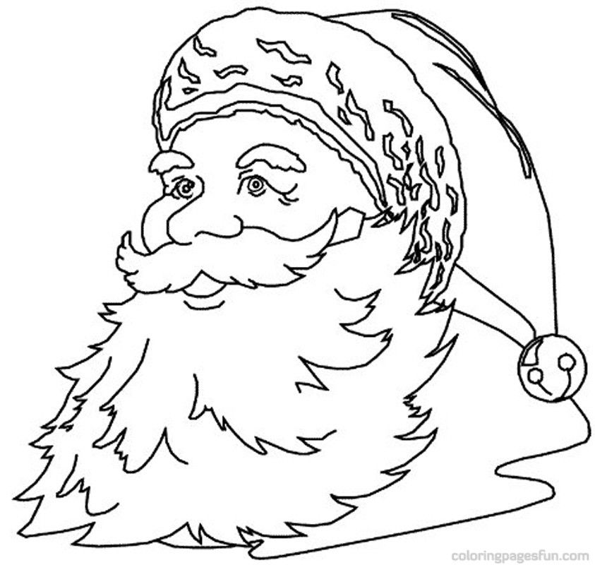 Christmas Santa Claus Coloring Pages 80 | Free Printable Coloring