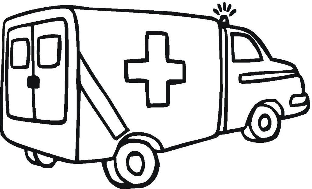 Ambulance Coloring Pages Coloring Home Ambulance Colouring Pages