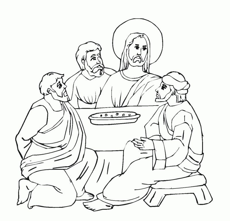 Last Supper Coloring Page  Coloring Home