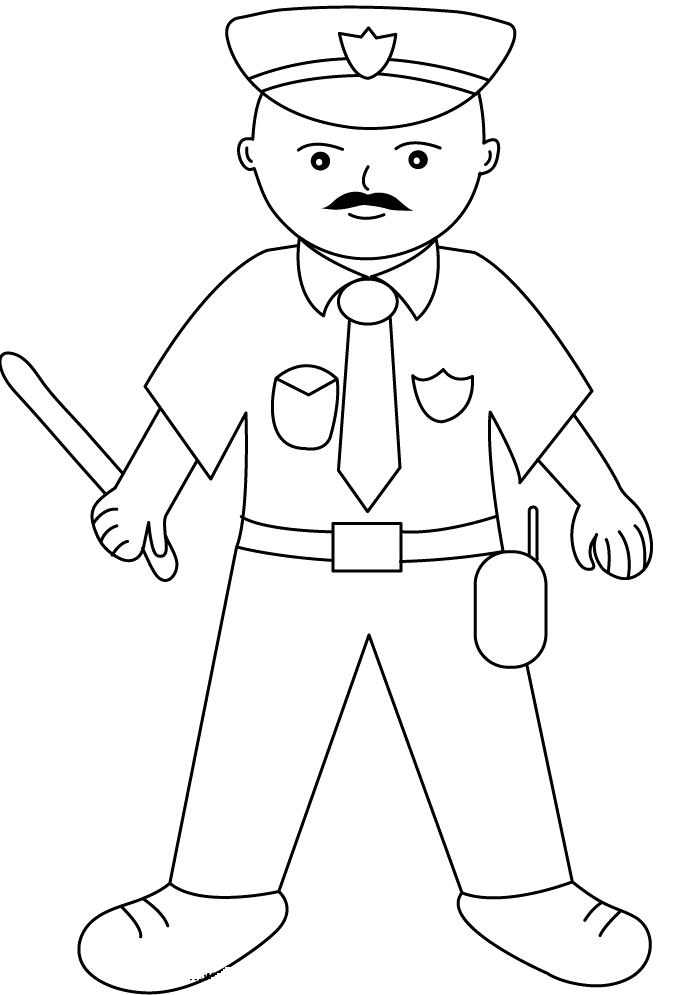 policeman coloring pages kids - photo#11