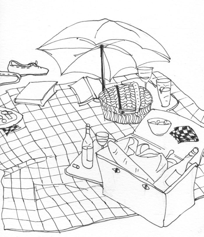 picnic coloring pages printable - photo#19