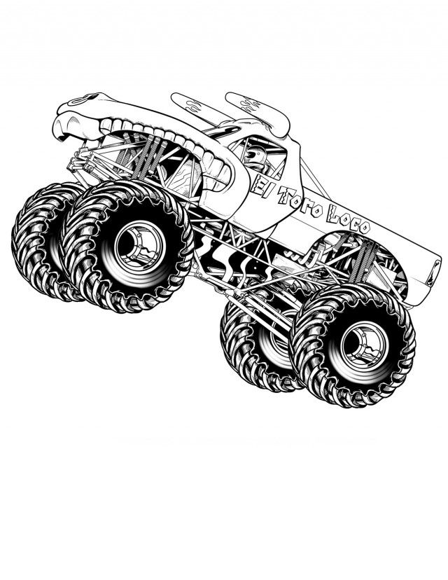 Coloring Pages Of Monster Trucks Disney Coloring Pages Kids 294862
