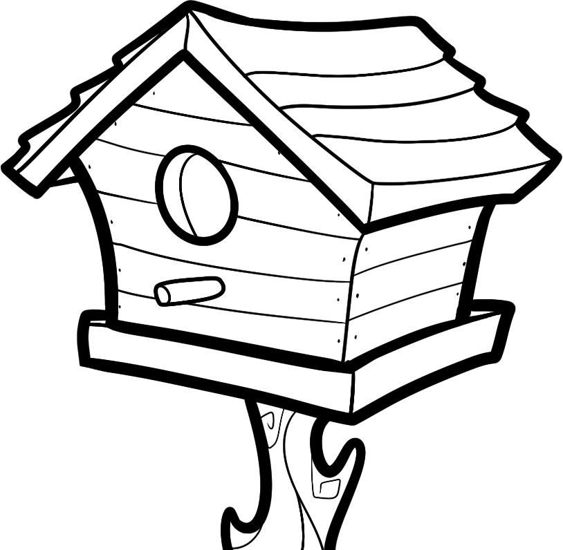 Dog House Coloring Pages Bird House Coloring Pages