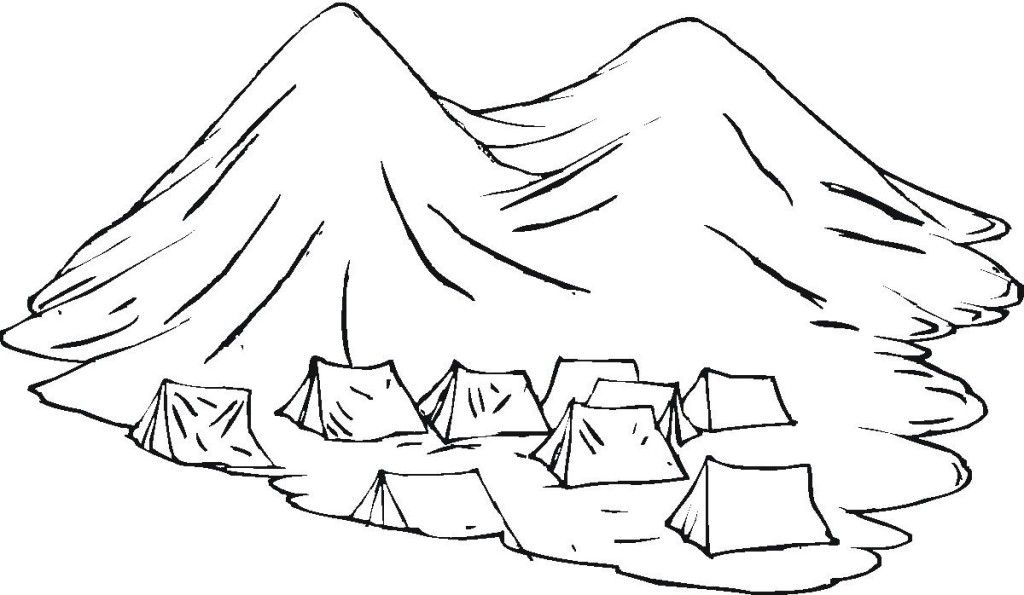 Inthemountain free colouring pages for Coloring pages mountains
