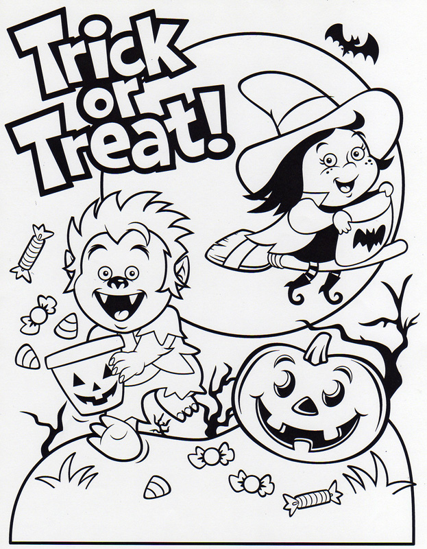 free halloween party coloring pages - photo#36