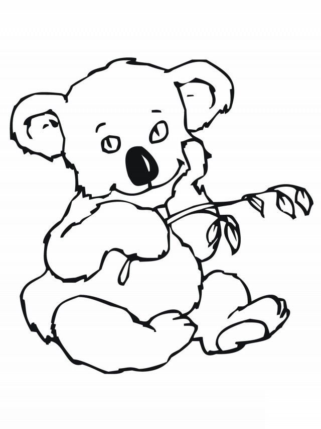 Print And Coloring Page Koala | Coloring Pages